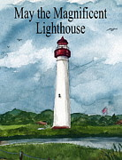 May The Magnificent Lighthouse  Print by Nancy Patterson