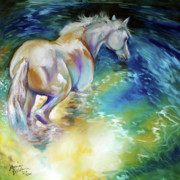 Marcia Baldwin Framed Prints - May Waterbaby Equine Framed Print by Marcia Baldwin