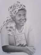 African-american Drawings - Maya Angelou  Haydays by Chuck Collins