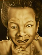Civil Rights Paintings - Maya angelou by Terrence ONeal