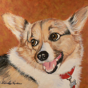 Corgi Dog Portrait Posters - Maya Poster by Catalina Rankin