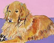 Acrylic Dog Paintings - Maya by Pat Saunders-White            