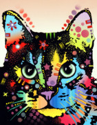 Cat Art Mixed Media Metal Prints - Maya Warrior Metal Print by Dean Russo