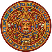 Mayan Calendar Framed Prints - Mayan Calendar Framed Print by Anne Wertheim