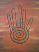 Mayan Paintings - Mayan Hand by Jessica Grace Leahy