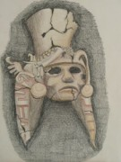 Mayan Paintings - Mayan Mask by Clint Howard