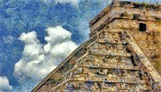 Architecture Digital Art Prints - Mayan Mysteries Print by Jeff Kolker