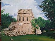 Mayan Paintings - Mayan Observatory by Terri Rodstrom