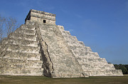 Old Ruin Metal Prints - Mayan Ruins At Chichen Itza, Kukulcans Pyramid, Yucatan, Mexico Metal Print by Tom Brakefield