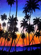 Early Pastels Metal Prints - Mayaro Red Dawn Metal Print by Karin Best