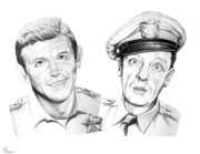 Comedians Framed Prints - Mayberry Framed Print by Murphy Elliott