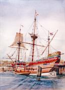 Plymouth Harbor Prints - Mayflower II  Print by P Anthony Visco
