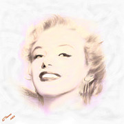 Hollywood Legend Prints - Mayilyn Print by Arne Hansen