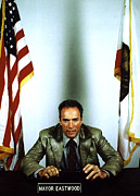 Eastwood Photos - Mayor Clint Eastwood Of Carmel, Ca, 1987 by Everett