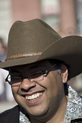 Calgary Stampede 2011 Prints - Mayor Nadeed Nenshi Print by Donna Munro