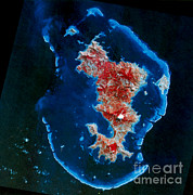 Aerial Photography Framed Prints - Mayotte, Comoro Islands Framed Print by Science Source