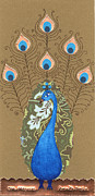 Religious Art Mixed Media Prints - Mayura Print by Justine Aldersey-Williams