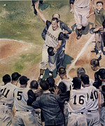 Pittsburgh Pirates Painting Prints - Maz Print by Rich Marks
