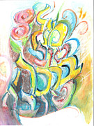 Good Luck Metal Prints - Mazal Tov Bracha Tovah Metal Print by JoyfulJewishArt