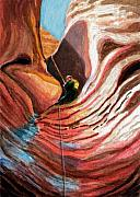Red Rock Canyon Paintings - Maze by Bonnie Kelso