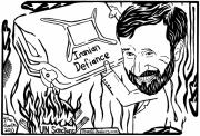 President Mixed Media - Maze cartoon of Iranian gasoline on the fire By Yonatan Frimer by Yonatan Frimer Maze Artist