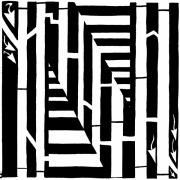 Letters Of The Alphabet Prints - Maze of the Letter N Print by Yonatan Frimer Maze Artist