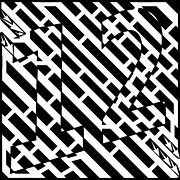 Number 12 Prints - Maze of the Number 12 Twelve Print by Yonatan Frimer Maze Artist