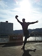 Pittsburgh Pirates Framed Prints - Mazeroski Statue In Pittsburgh Framed Print by Tiffney Stevens