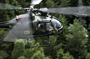 Helicopter Art - Mbb Bo 105 Helicopter Of The Swedish by Daniel Karlsson