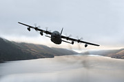 Mid-air Prints - Mc-130p Combat Shadow Over Scotland Print by Gert Kromhout