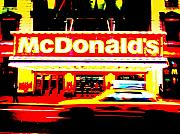 Funkpix Digital Art Posters - Mc Donalds on Broadway  Poster by Funkpix Photo Hunter