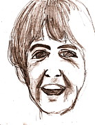 Paul Mccartney Drawings - McCartney by David Ritsema