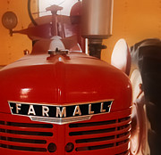Red Photographs Framed Prints - McCormick Farmall Tractor - Model H Framed Print by Steven Milner