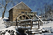 Grist Mill Art - McCormicks Farm February 2012 Series II by Kathy Jennings