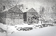 Snow Scenes Metal Prints - McCormicks Farm February 2012 Series VI Metal Print by Kathy Jennings