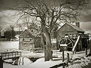 Rockbridge County Posters - McCormicks Farm In Winter Poster by Kathy Jennings