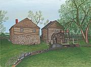 Cyrus Paintings - McCormicks Mill by TJ Word