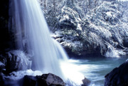 Birch River Prints - McCoy Falls in January Print by Thomas R Fletcher