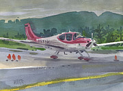 Airplane Paintings - McCullum Airport by Donald Maier