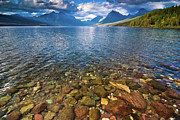 Lake Mcdonald Posters - McDonald Lake Colors Poster by Greg Nyquist