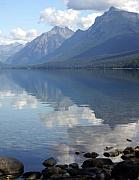 Lake Mcdonald Framed Prints - McDonald Reflection Framed Print by Marty Koch