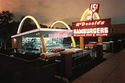 Businesses Prints - Mcdonalds 1 Store Museum Print by Everett