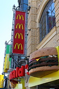Mcdonalds Prints - McDonalds Hamburger Restaurant . Fishermans Wharf . San Francisco California . 7D14249 Print by Wingsdomain Art and Photography