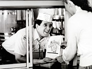Businesses Prints - Mcdonalds Restaurant Crew Member Print by Everett