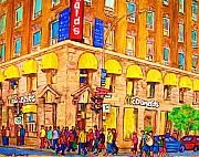 French Cities Paintings - Mcdonalds Restaurant  Montreal by Carole Spandau