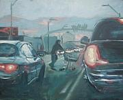 Homeless Paintings - McDowell road at Night by Aleksandra Buha
