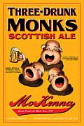 Mckenna Three Drunk Monks Print by John OBrien
