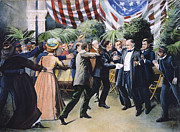 1901 Posters - McKINLEY ASSASSINATION Poster by Granger