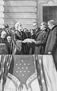Chief Justice Framed Prints - McKINLEY TAKING OATH, 1897 Framed Print by Granger