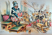 Caricature Art - McKINLEY TARIFF ACT, 1894 by Granger